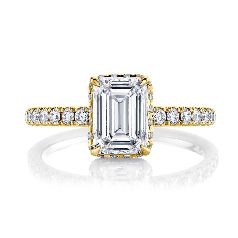 1.87 cttw. Emerald Cut Diamond Engagment