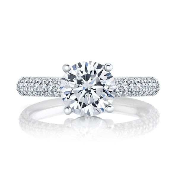 Micro Pave Diamond Engagement Setting