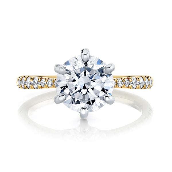 HS Original Six Prong Diamond Solitaire