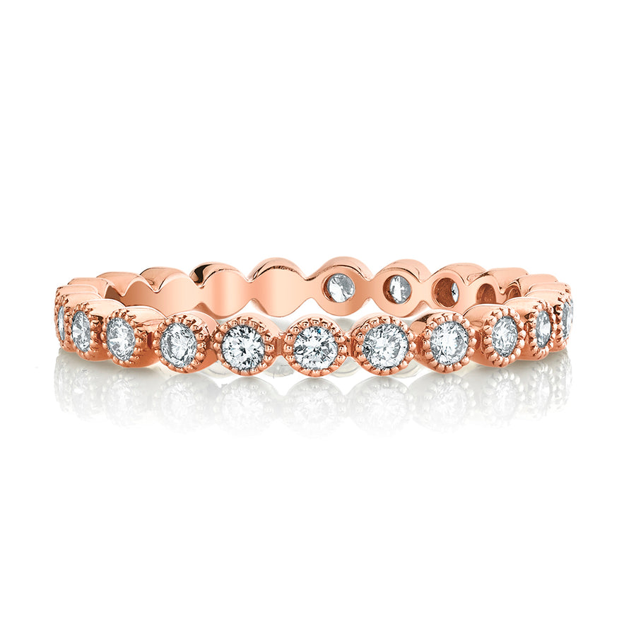 Petite Rose Gold Diamond Stackable Ring