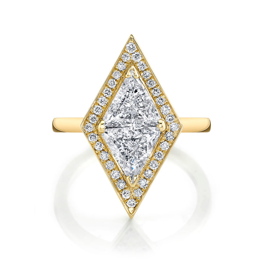 Popular Trillion Cut Diamond Ring