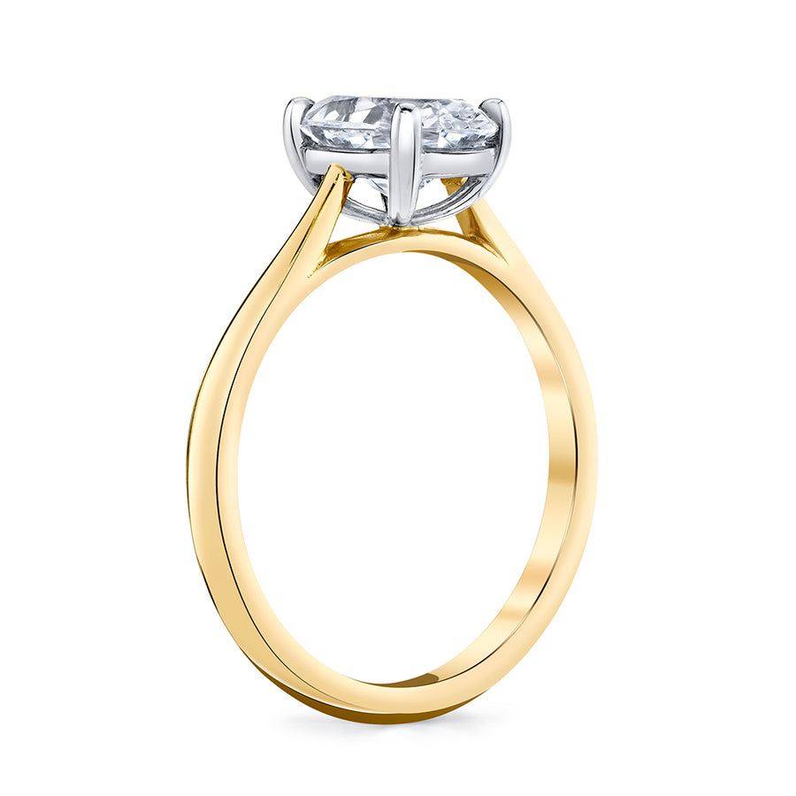 Oval Diamond Solitaire Setting