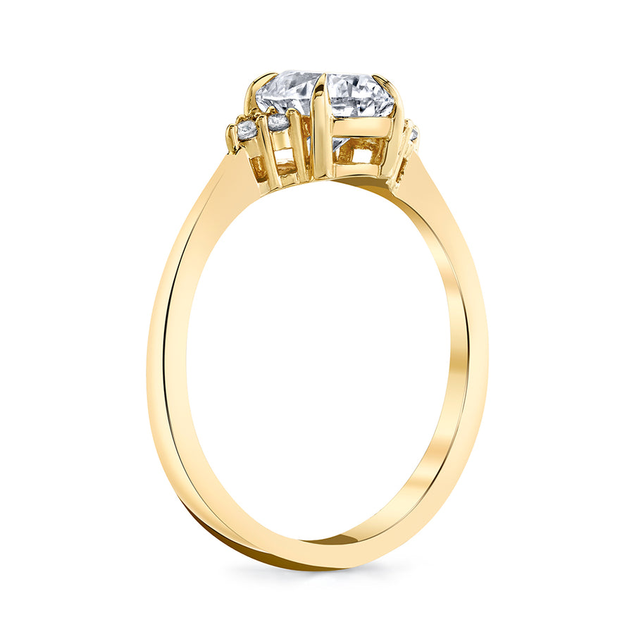 1.26 cttw. Oval Diamond Ring