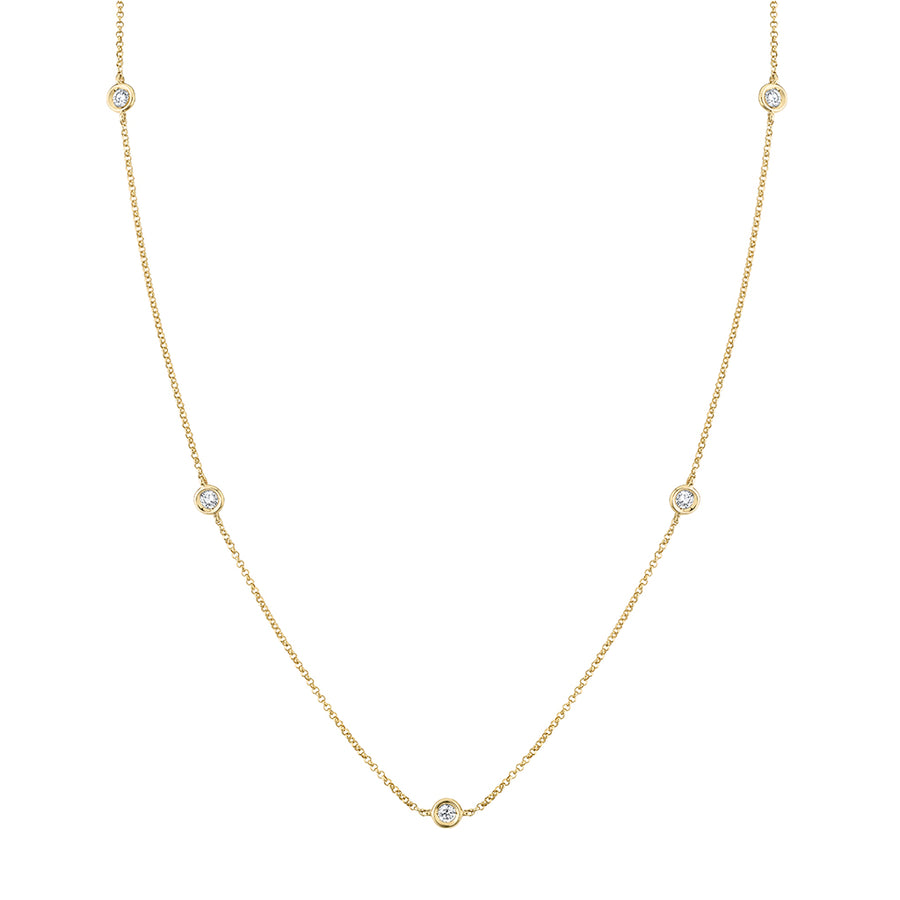 0.30 cttw. Diamond Station Necklace