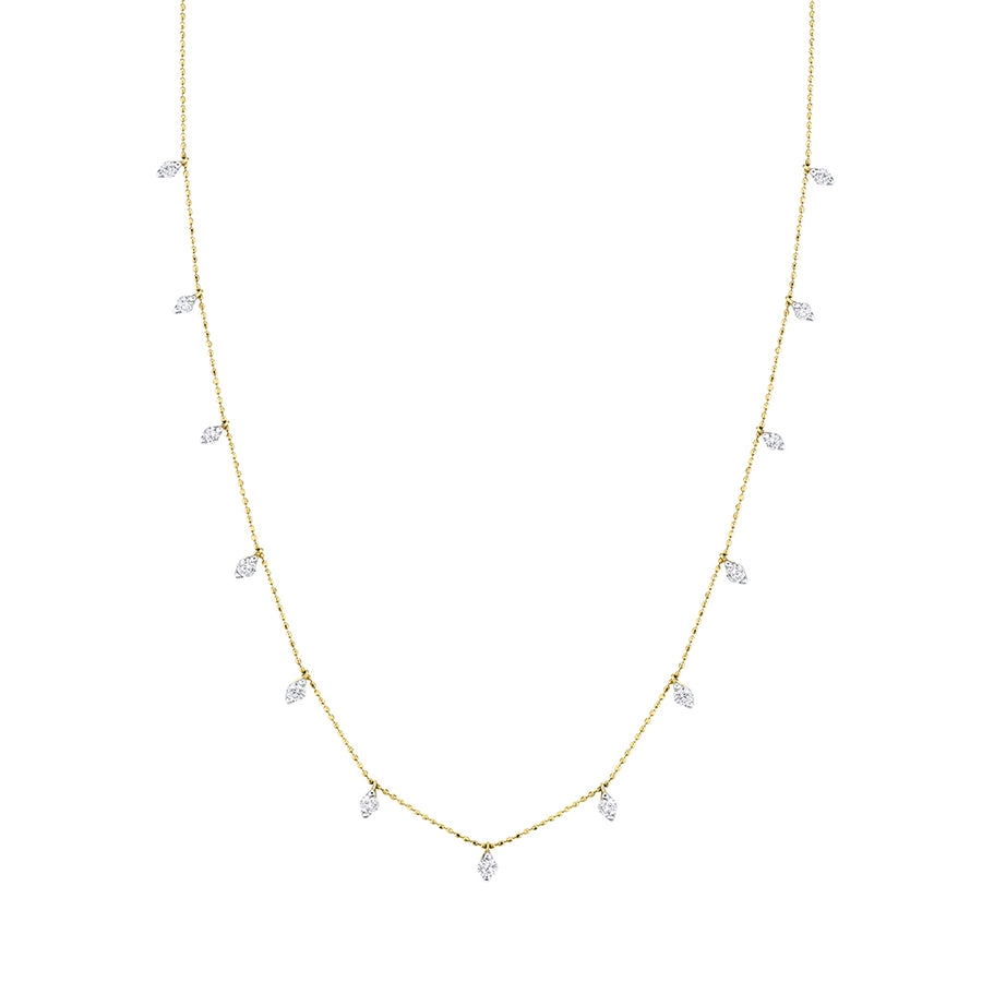 Yellow Gold Fringe Diamond Neclace