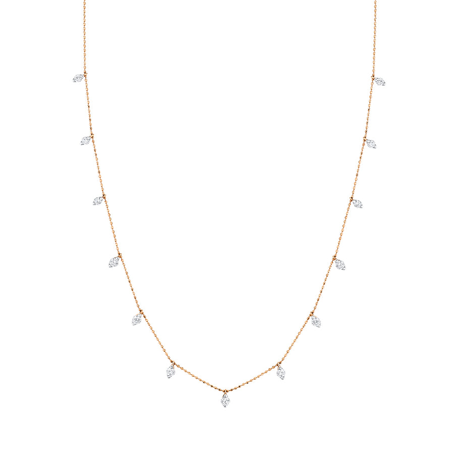 Lightweight Diamond Station Necklace