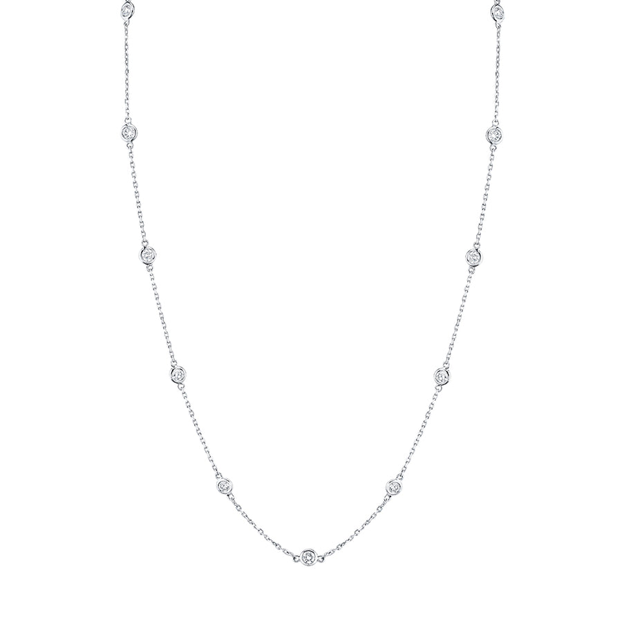 1.50 ct. diamond by yard necklace