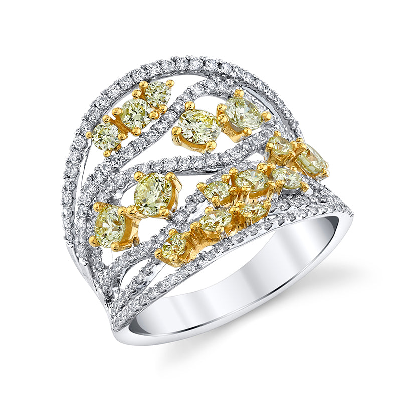 Multi Yellow Diamond Ring