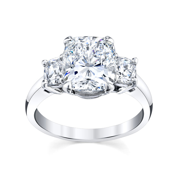 3.71 Cttw. Cushion Cut Ring
