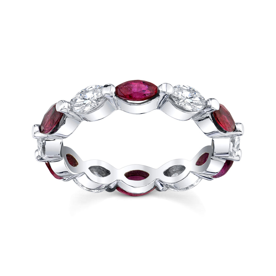 Ruby & Diamond Eternity Ring