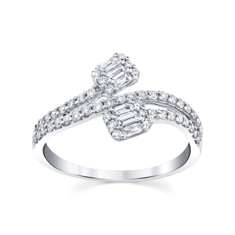 Baguette ByPass Diamond Ring