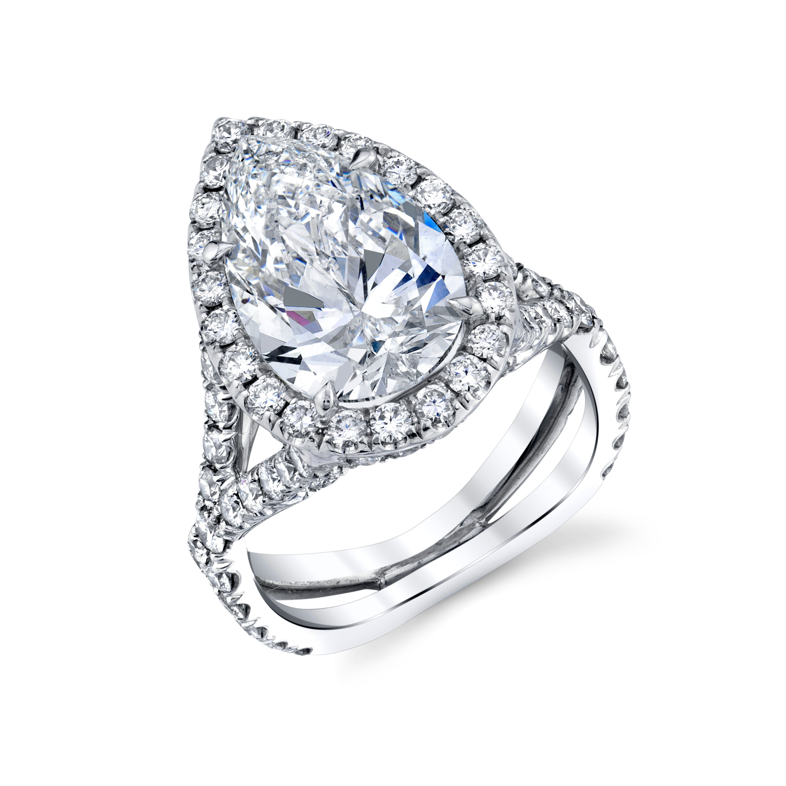 4.01 CT. Pear Shape Diamond Ring