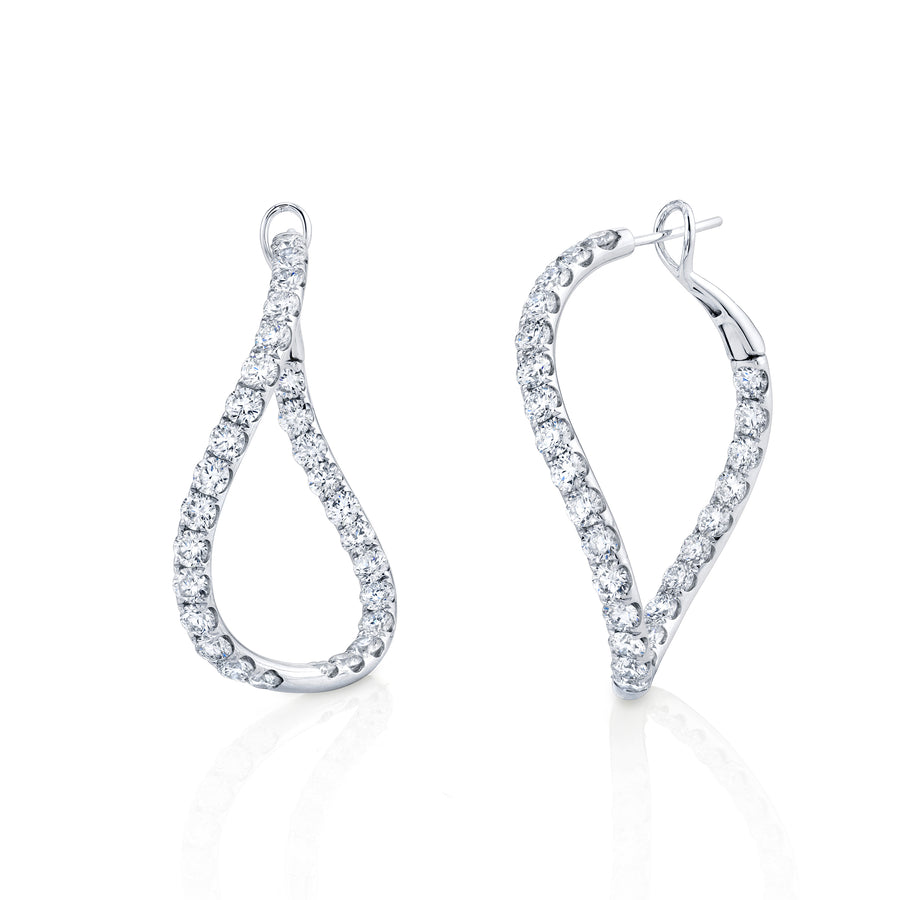 Diamond Wave Hoop Earring