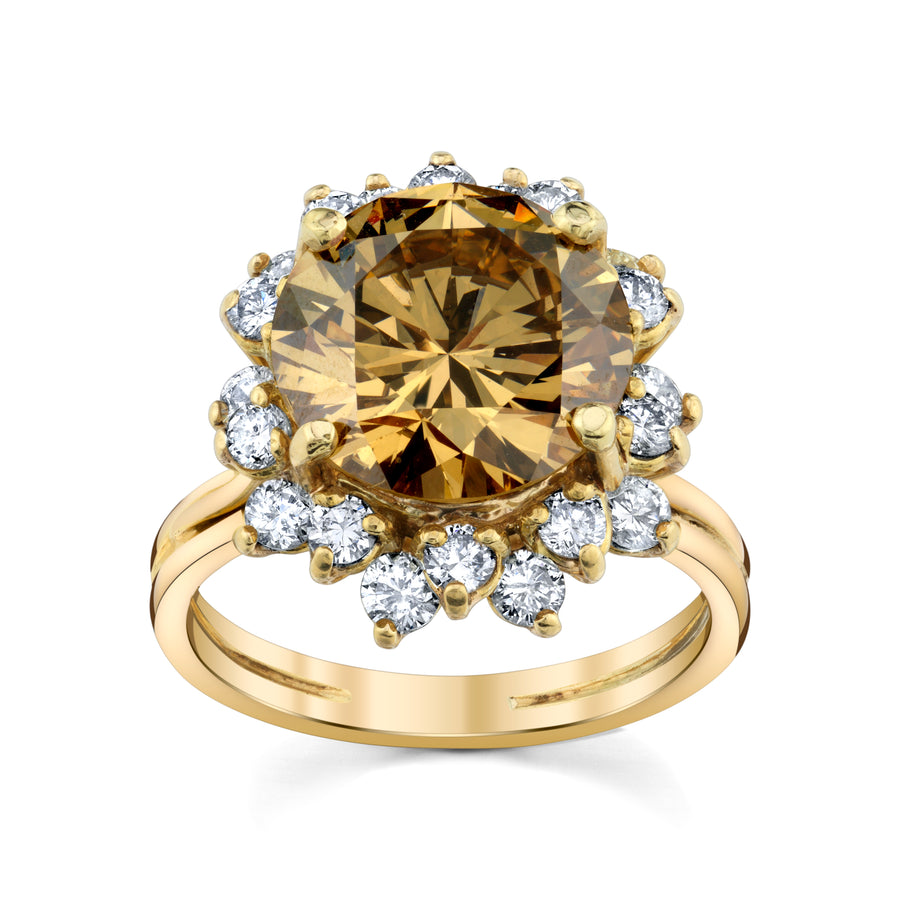 4.79ct. Vintage Cognac Diamond Ring