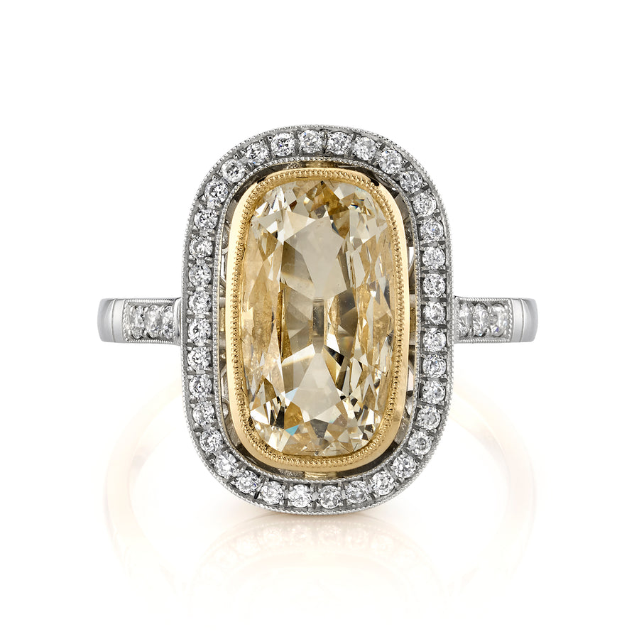 2.14 ct.  Vintage Cushion Diamond Ring