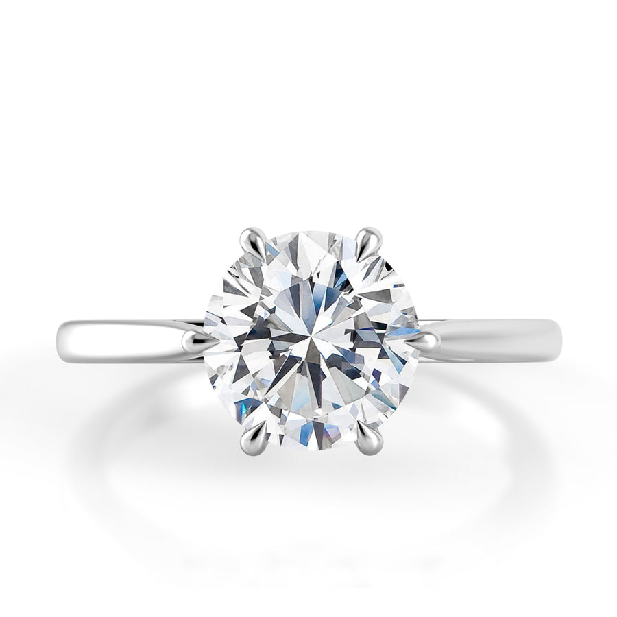 Danhov Classico Six-Prong Solitaire Engagement Ring