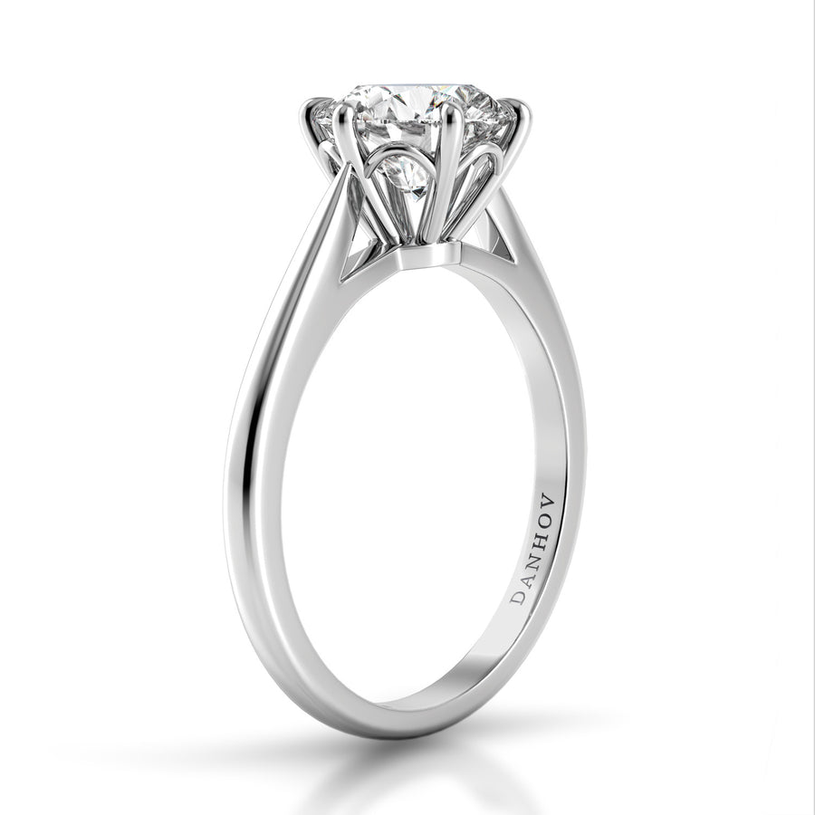 Danhov Classico Six-Prong Solitaire Ring