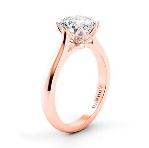 Rose Gold Danhov Classico Solitaire Diamond Ring
