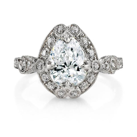 Single Stone Vintage Engagement Ring