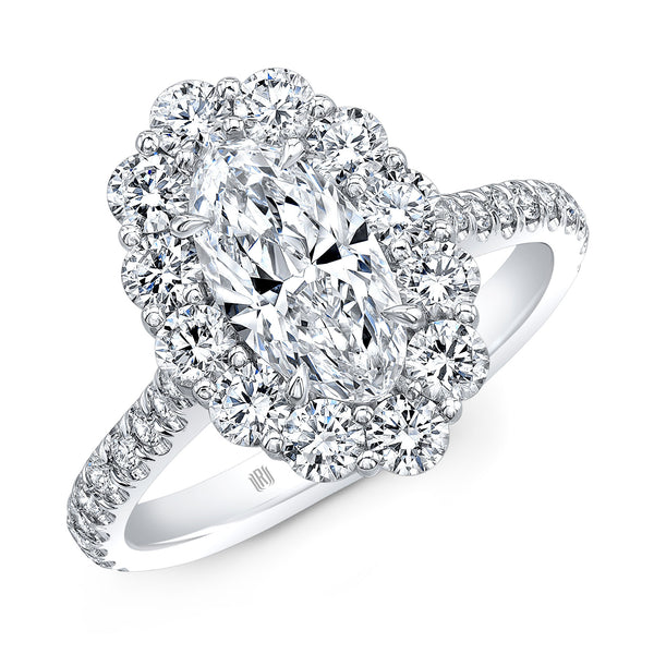 Moval Cut Diamond Ring