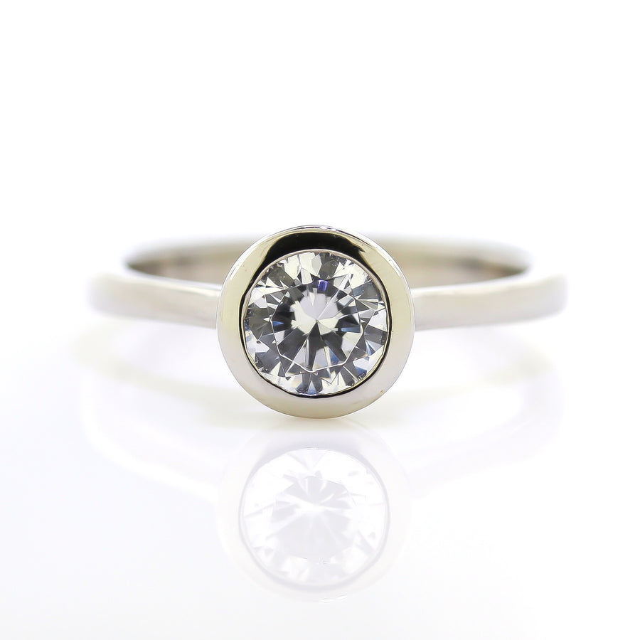 Sholdt Design Bezel Set Engagement Ring