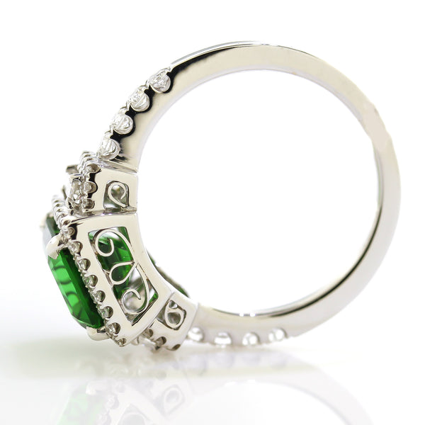 Chrome Tourmaline Gemstone Ring