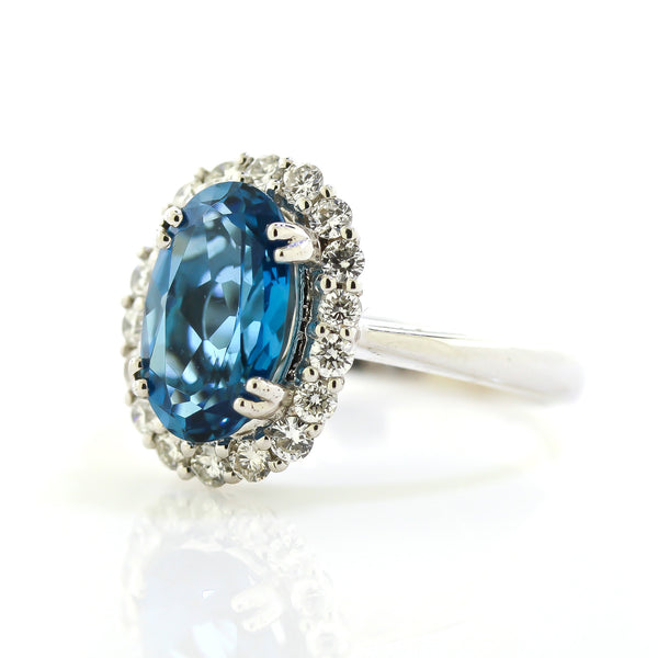 London Blue Topaz Diamond Ring