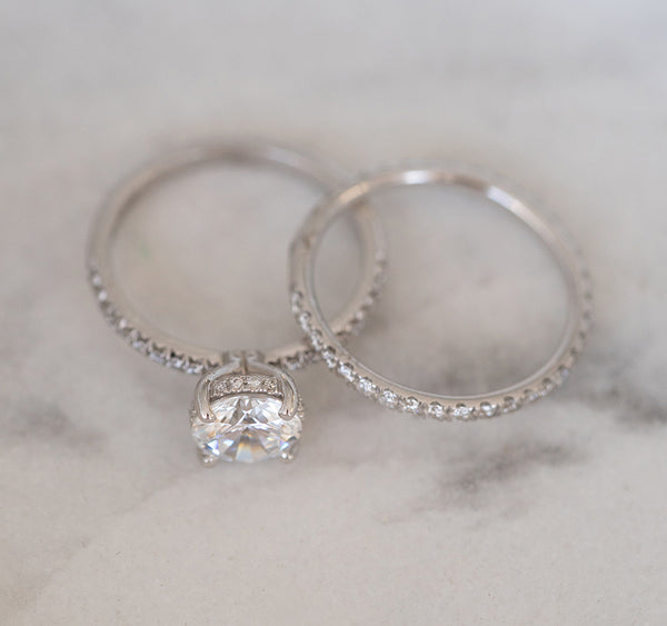 'French' Pave Engagement Ring Setting