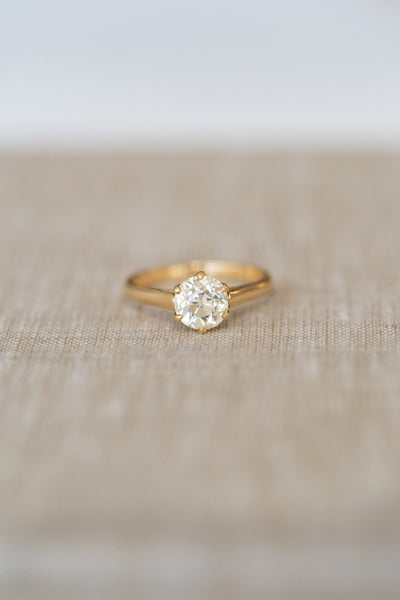 Old European Cut  Yellow Gold Solitaire