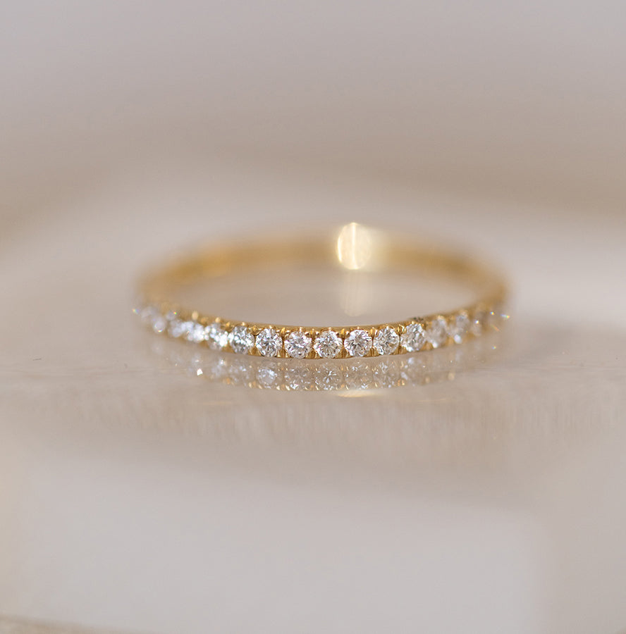 Yellow Gold Small and Petite Diamond Ring