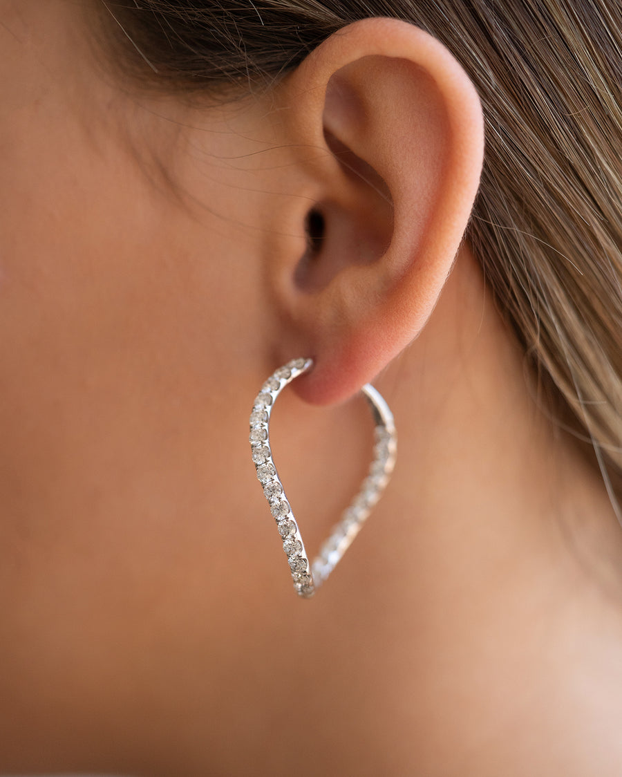 Diamond Hoops - Earrings
