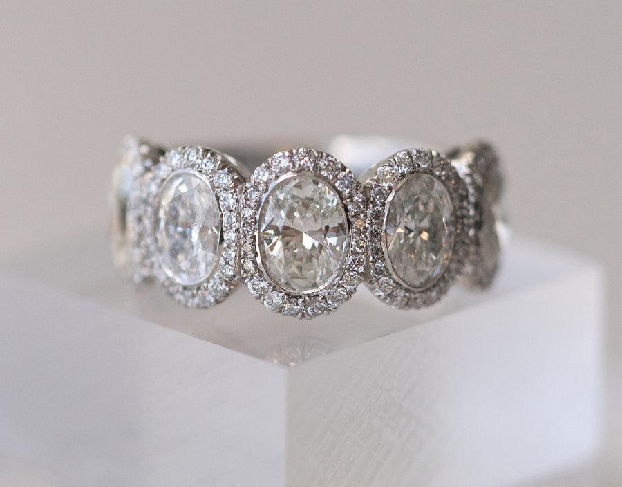 Oval Five Stone Diamond Ring