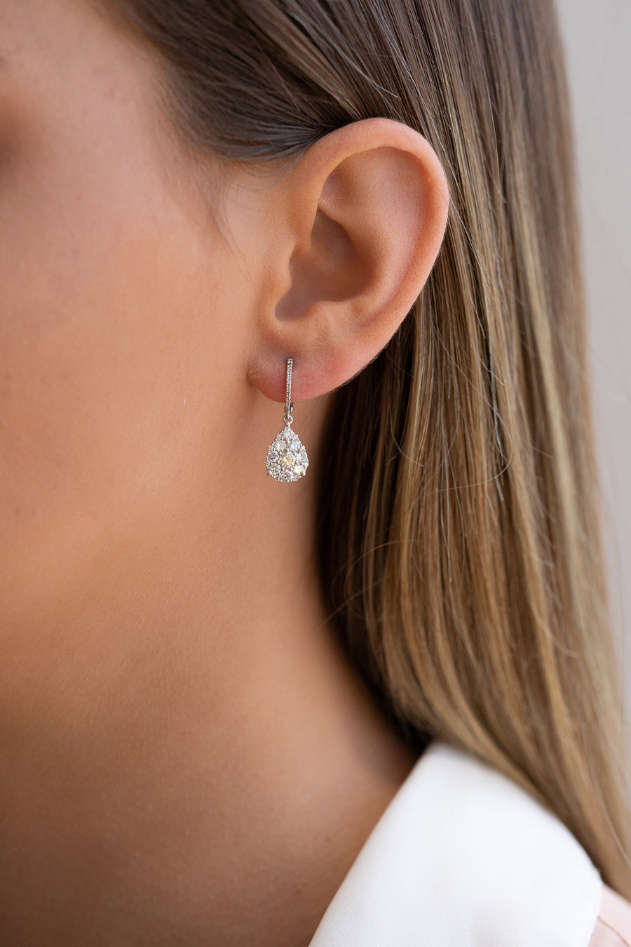 Popular Teardrop Diamond Earrings
