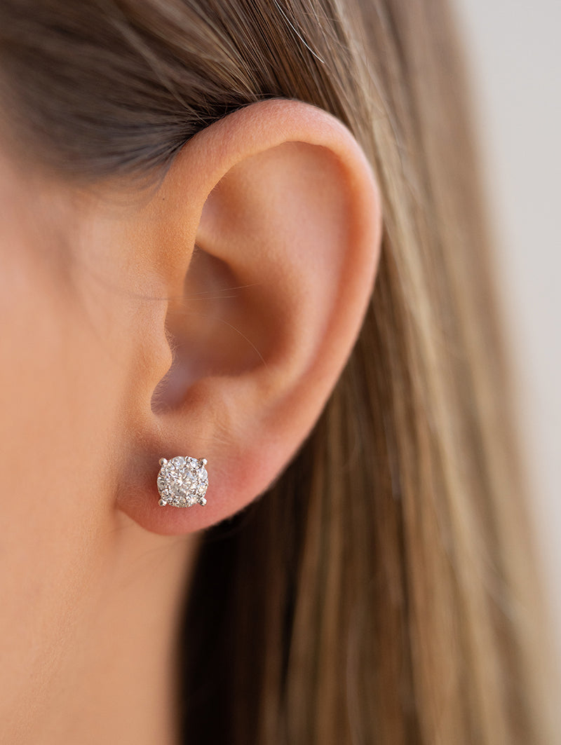 Diamond Mosaic Studs
