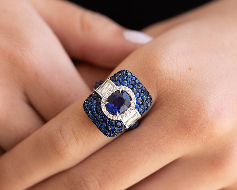Popular Sapphire Cocktail Ring