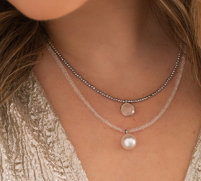 Pearl and Moonstone Necklace