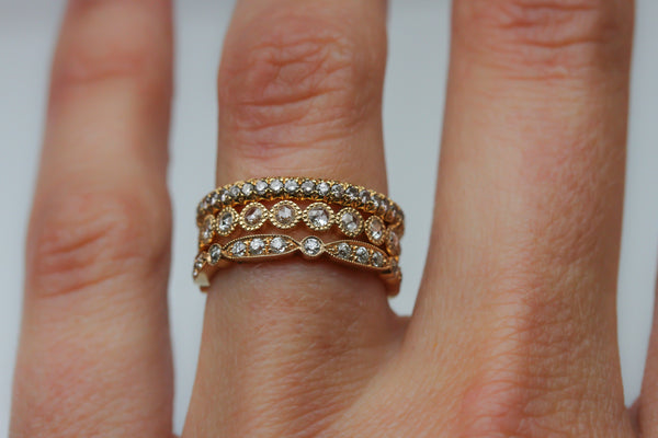 Stackable Rose Gold Bands