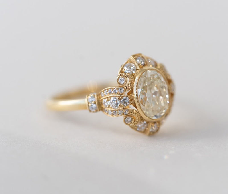 1.27 ct. Vintage Oval Engagement Ring