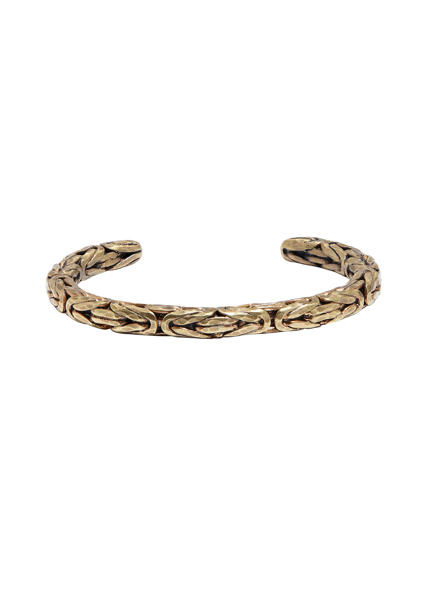 John Varvatos  - Mens Braided Cuff in Brass