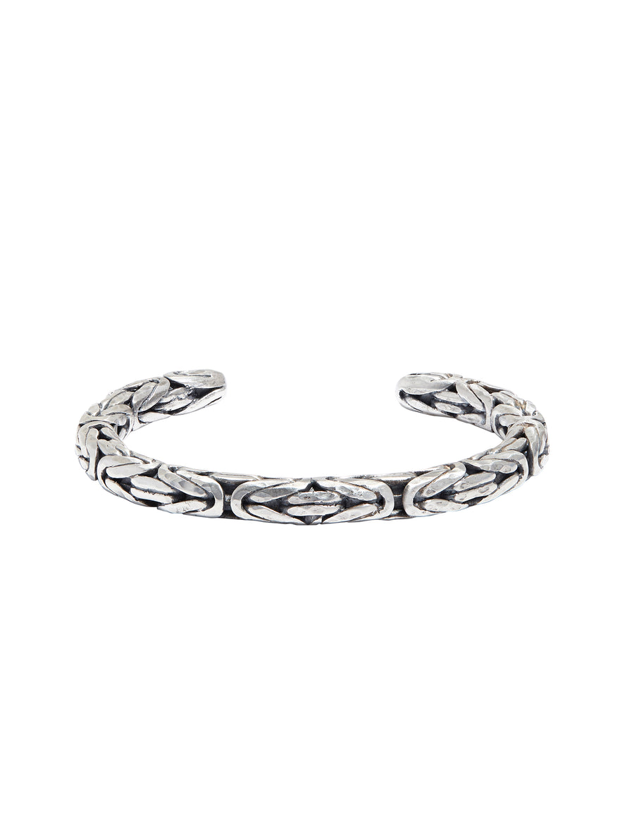 John Varvatos  - Mens Silver Braided Cuff