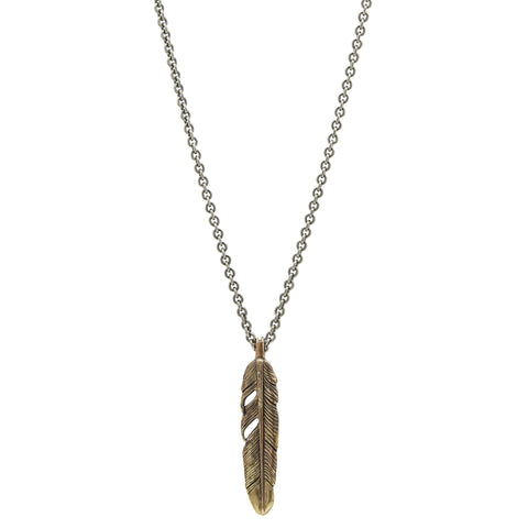 John Varvatos - Brass Feather Necklace