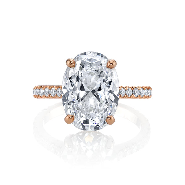 4.52 CT Oval Diamond Engagement Ring
