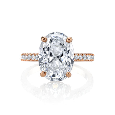 3.02 CT. Oval Diamond Engagement Ring