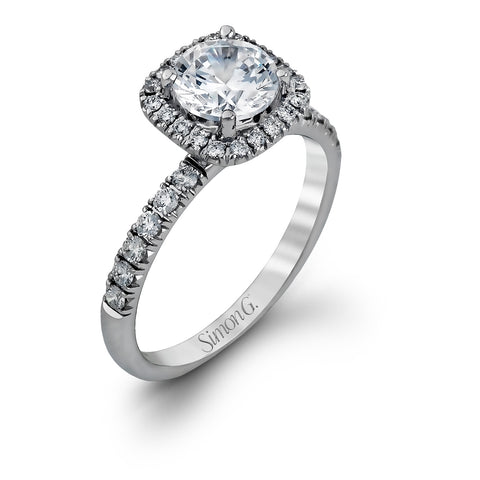 Simon G MR2132 Engagement Ring Set