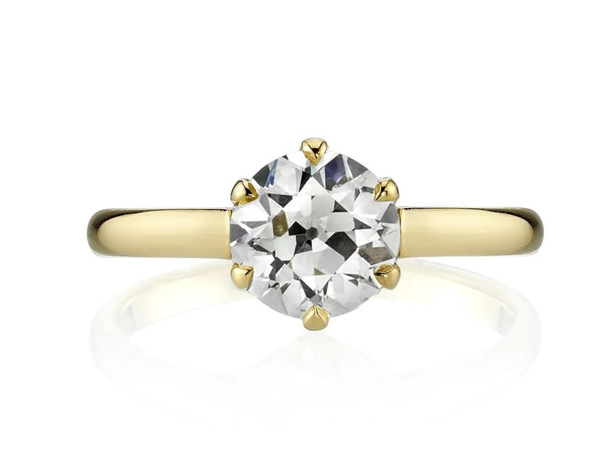 Old European Cut Diamond Solitaire by Single Stone