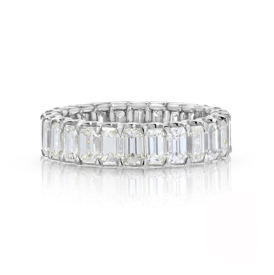 2.91 cttw. Emerald Cut Eternity Ring
