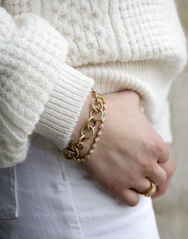 Yellow Gold Club Bracelet