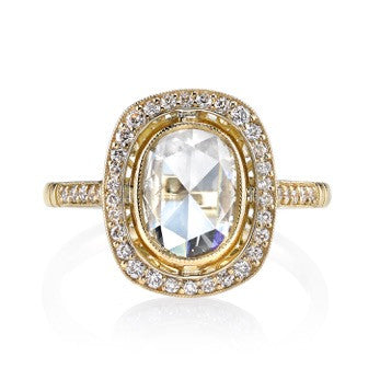 Single Stone Rose Cut Diamond Ring Profile
