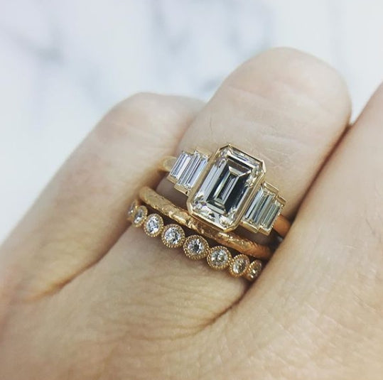 1.24 CTW. Art Deco Ring
