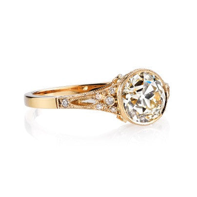 Single Stone - Corinne Old European Cut Diamond Engagement Ring